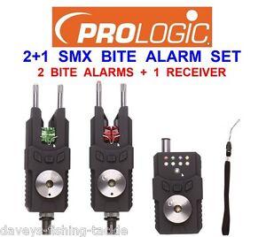 Prologic SMX Set of 2+1 SET  Alarms Receiver Carp Bite Indicator /& Carry Case