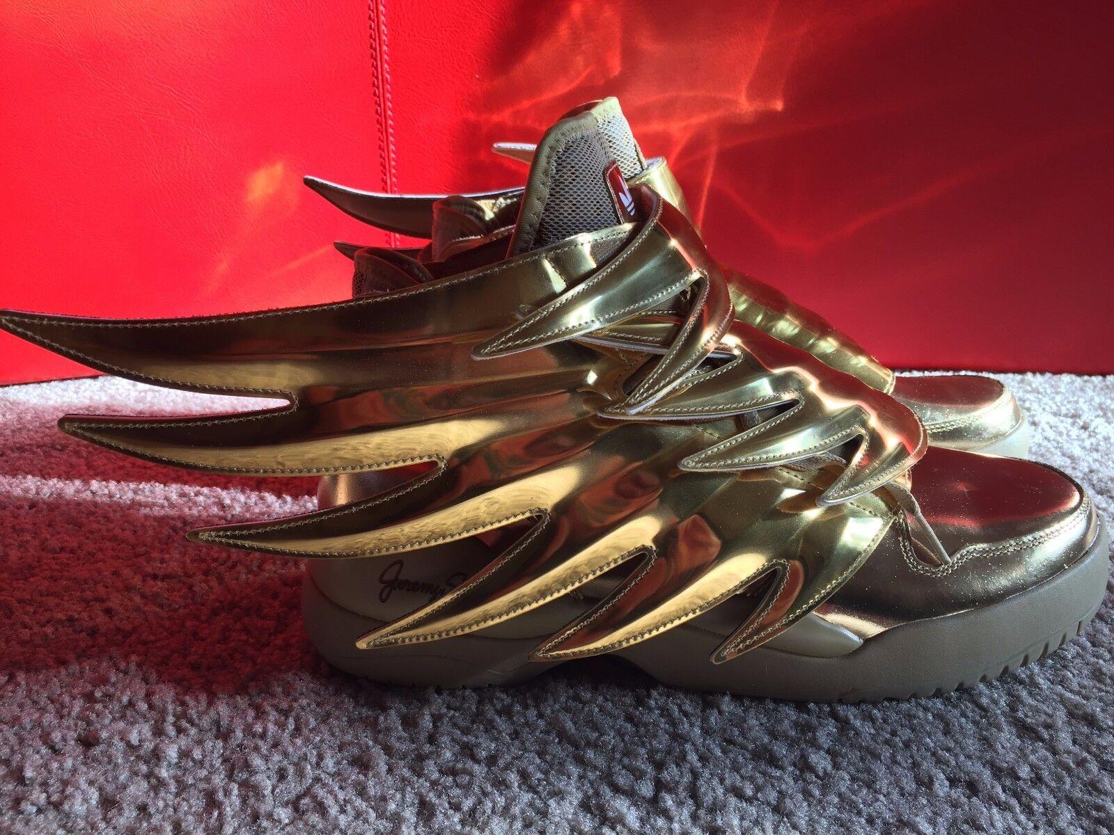 Bnib in edizione limitata di jeremy jeremy di scott x adidas ali 3.0 gold 45 rare venduto 6edfa2