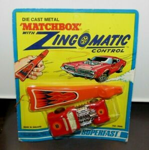 Matchbox-Superfast-No-19-Road-Dragster-Red-034-8-034-Zingomatic-Blister-Sealed