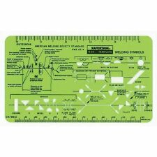 Rapidesign WELDING TEMPLATE Stencil Symbols Weld Drawing R-34