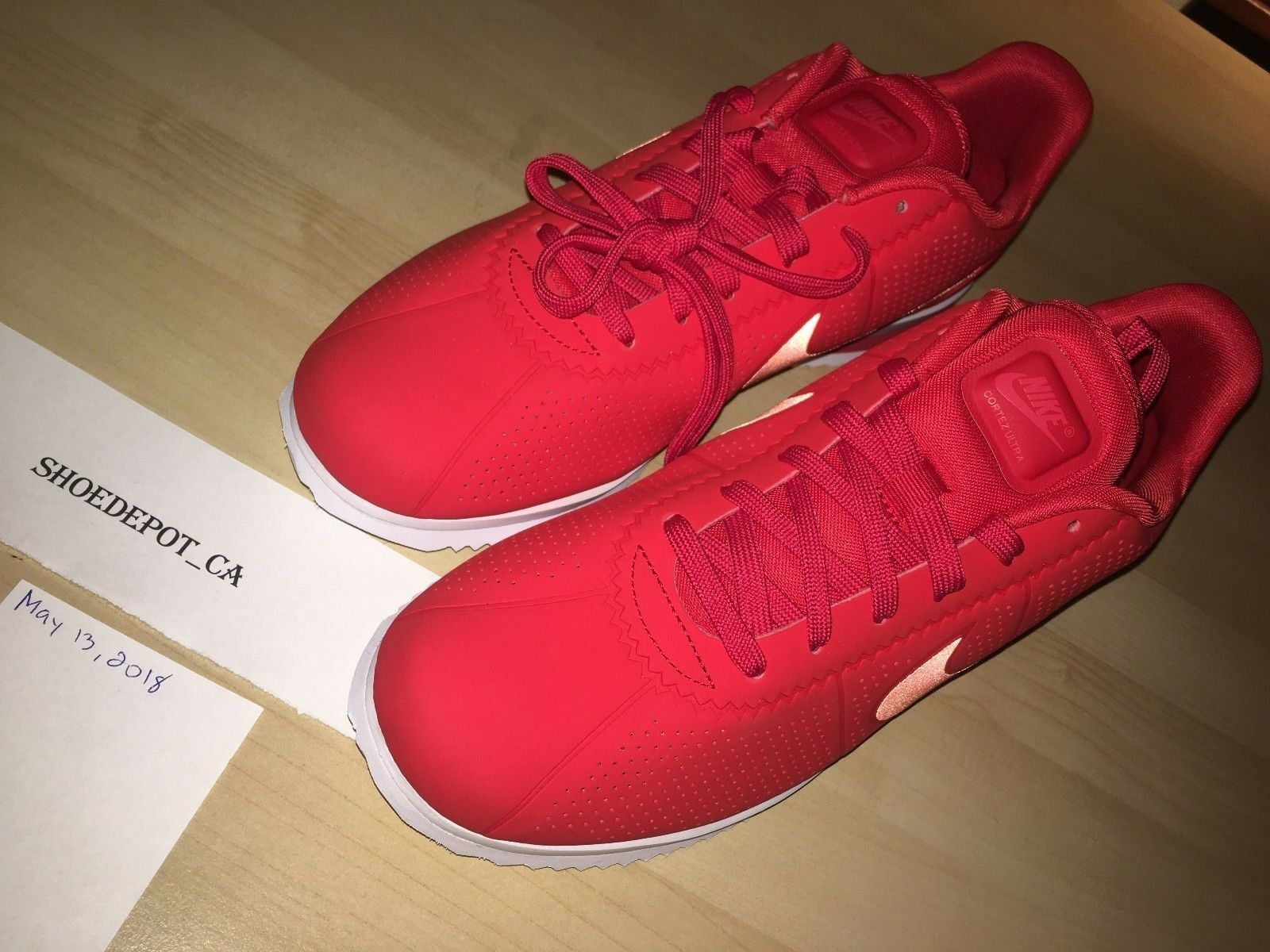 Nike Cortez Ultra Moire 845013-601 Size 10.5 Men's Athletic Running Trainer Red