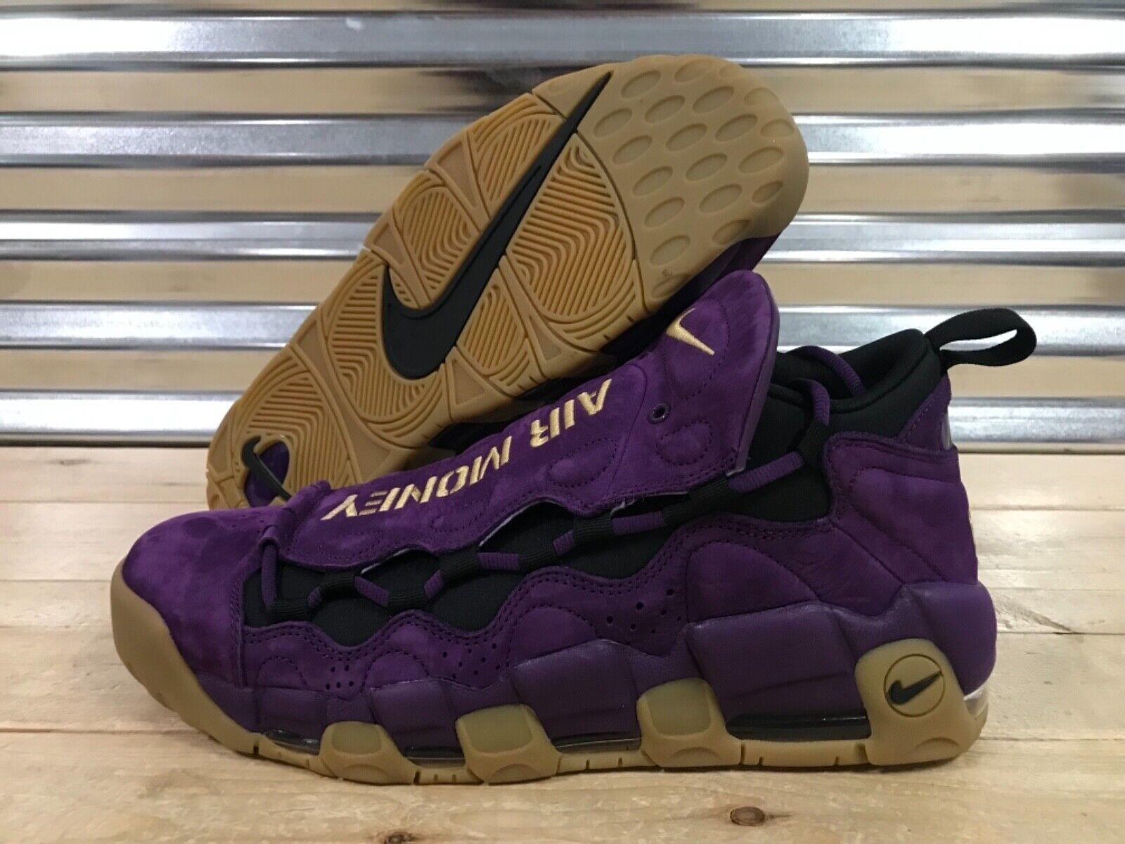 Nike Air More Money Money Money viola Leopard NYC scarpe Metallic oro Gum SZ ( AR5401-500 ) 49e5f3