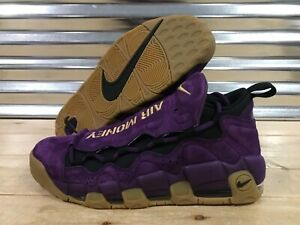 Nike Air More Money Purple Leopard NYC Shoes Metallic Gold Gum SZ ... 55790ad73