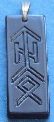 Amulett Wasserbüffelhorn Binderune - Welteibe