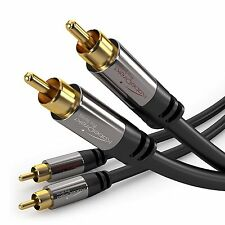 KabelDirekt 6 feet 2 x RCA Male to 2 x RCA Male Stereo Audio Cable - PRO Series