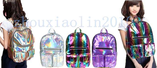 HOLOGRAPHIC Gammaray hologram backpack harajuku shoulder School bag Tote laptop