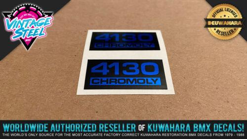Factory Correct Magician Bravo Pair 4130 CHROMOLY BMX Seat Post Decal Sticker