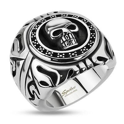 cabeza de Lobo g P2 acero inoxidable anillo de joyeria para hombre y motorista
