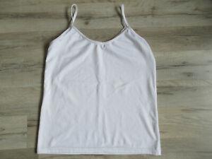 Damen Top Trägershirt Gr S Schwarz Spaghettiträger  ärmelloses Oberteil  Shirt