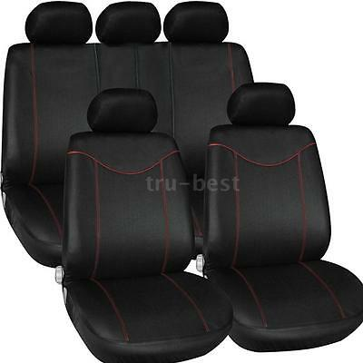 Luxury 9pcs Universal Car Seat Cover Interior Accessories Cushion Cover S9X4