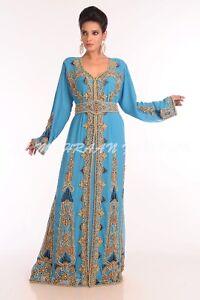 Royal Islamique Mariage Robe Soiree Dubai Marocain Caftan Arabe Ebay