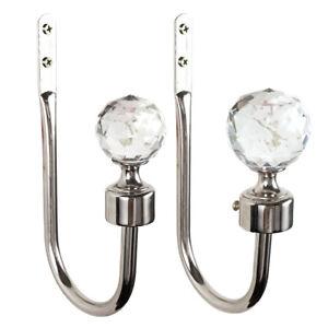 2x-Alloy-Silver-Crystal-Curtain-Tie-Backs-Door-Wall-Tassel-Hooks-Holder-Hanger