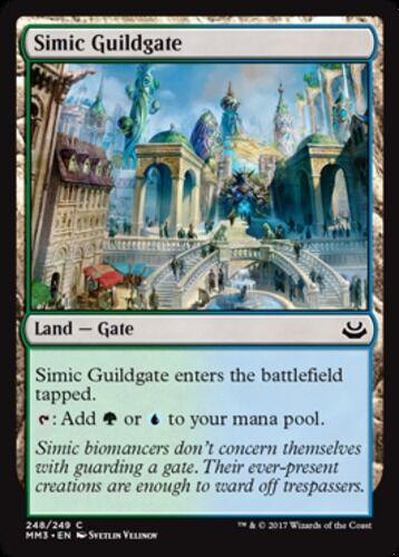 English x4 Simic Guildgate MTG Modern Masters 2017 C M//NM