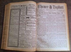 Cham-1901-Zeitung-komplett-Jahrgang-Tagblatt-Kurier-alt-Oberpfalz-Amtsblatt