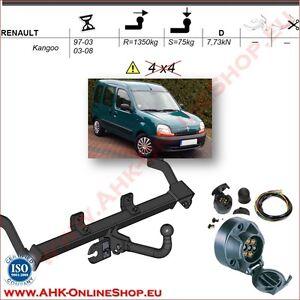 AHK ES7 Renault Kangoo I 1997-2008 Anhängevorrichtung Anhängerkupplung komplett