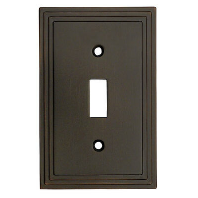 Oil Rubbed Bronze Single Toggle Decorative Wall Switchplate Cover 25053-ORB