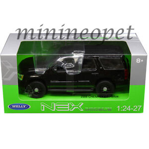 WELLY-22509WEP-BK-2008-CHEVROLET-TAHOE-1-24-UNMARKED-POLICE-VERSION-ALL-BLACK