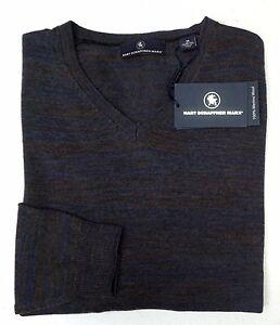 NWT-150-Hart-Schaffner-Marx-LS-Sweater-Mens-Size-M-L-XL-100-Merino-Wool-V-Neck