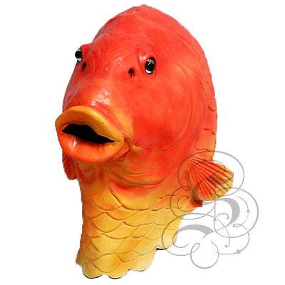 Costi Comuni In Lattice Realistica Animale Acquatico Oro Pesce Costume Di Scena Carnevale Party Maschera-mostra Il Titolo Originale Prezzo Basso