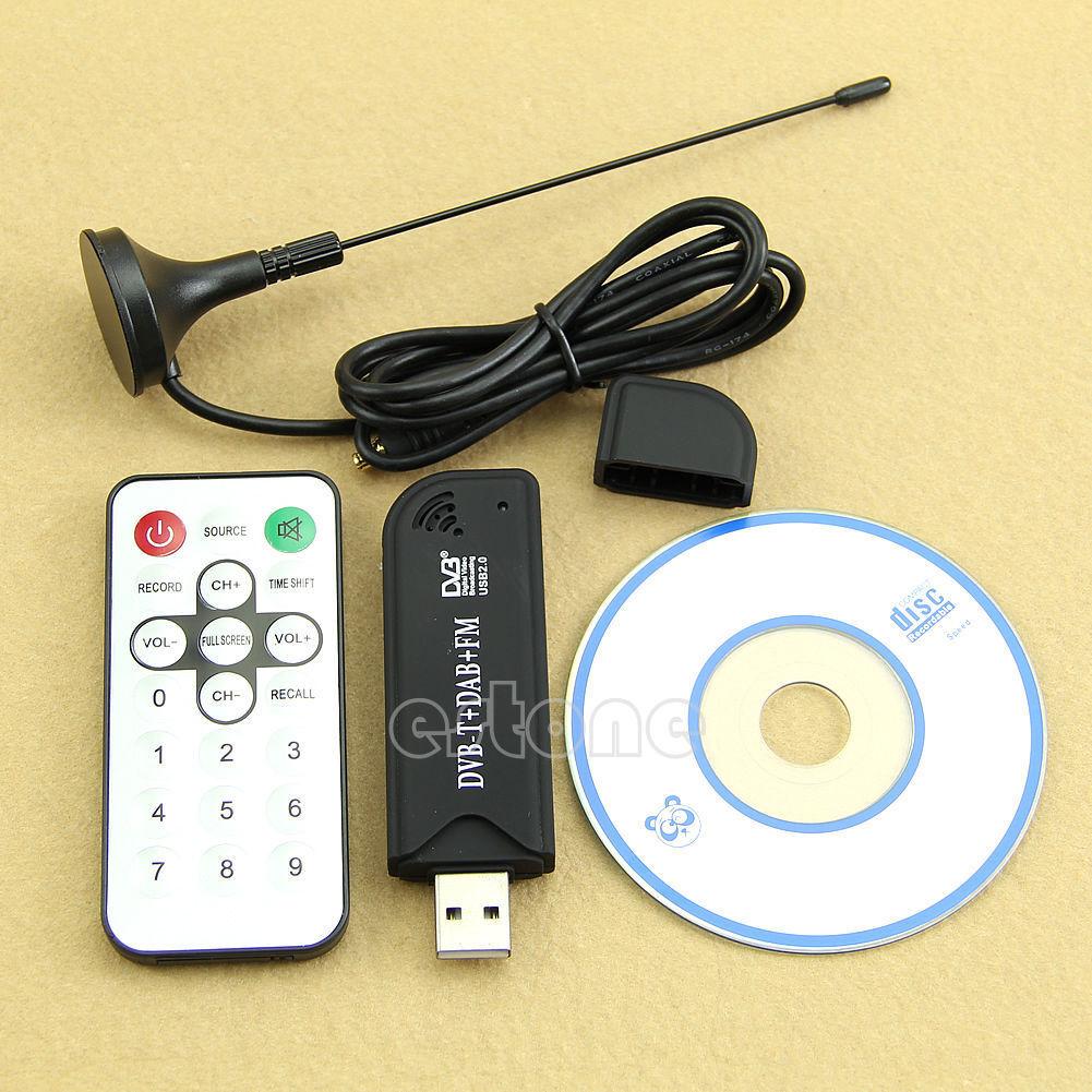 USB20 Digital DVB T SDR DAB FM HDTV TV Tuner Receiver Stick HE RTL2832U