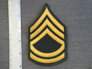 US Army Private First Class E-3 Rank Embroidered Keychain