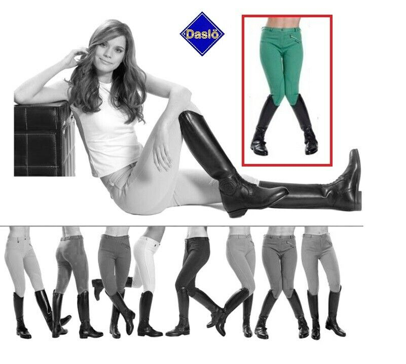 Daslö pantalone pantaloni equitazione estivi leggeri peso piuma donna verde