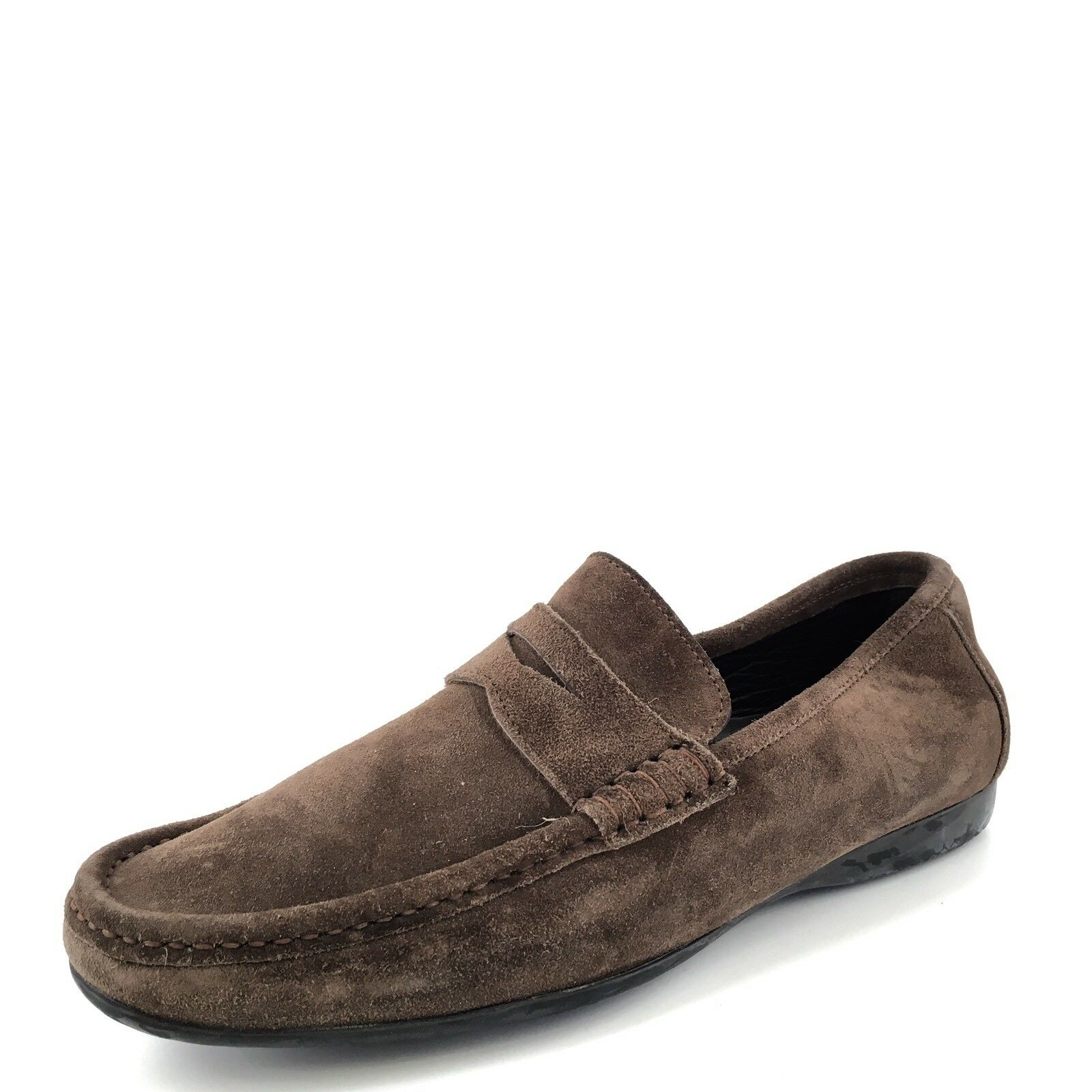 Bruno Magli Partie Brown Suede Penny Loafers Men's Size 7.5 M  425