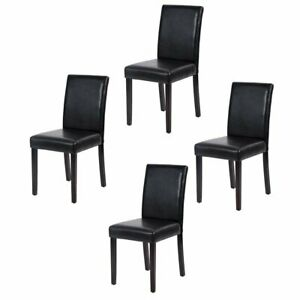 Strange Details About Dining Chairs Leather Solid Wood Furniture Modern Kitchen Padded Chair Set Of 4 Bralicious Painted Fabric Chair Ideas Braliciousco