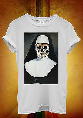 Skeleton Bad Nun Religion Sister Cool Men Women Unisex T Shirt Tank Top Vest 560