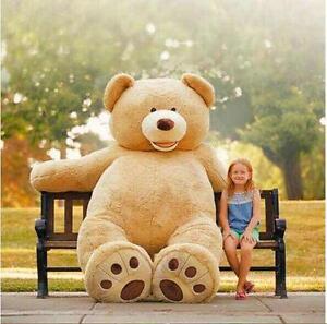 80cm-340cm Giant teddy bear toy American Bear cover with zipper plush soft gift