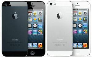 Apple iPhone 5 (AT&T Unlocked) GSM SmartPhone 16GB 32GB 64GB Black / White Good