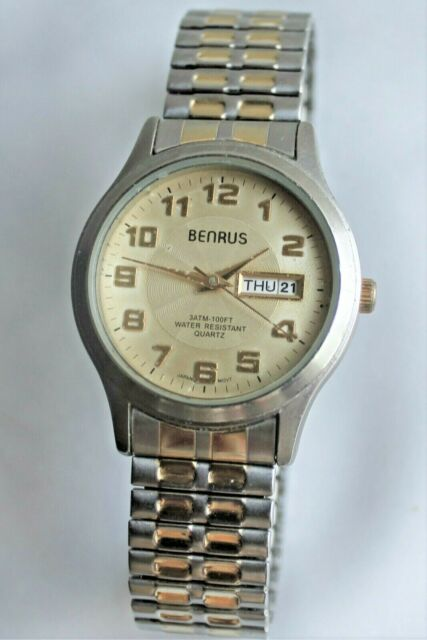 Vintage Benrus Watch Bnw712 Silver And
