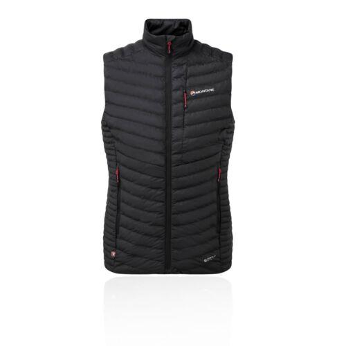 Montane Mens Icarus Vest Black Sports Outdoors Full Zip Warm Water Resistant