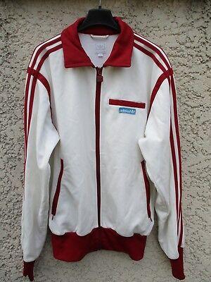 Veste ADIDAS rétro vintage jacket blanc bordeaux giacca sport années 70 S | eBay