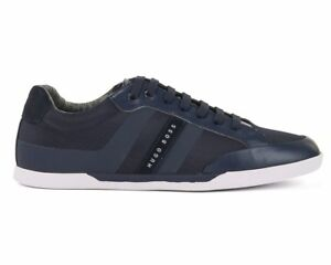5db8d43b3593 Hugo Boss Green Shuttle Tenn Tech 50379295 401 Mens Trainers Dark ...