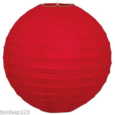 "10"" Paper Lantern Hanging Wedding Party Decorations Lamp Birthday Round Chinese"