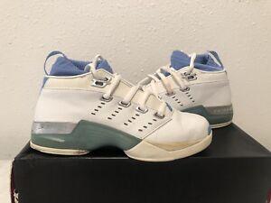 85e59df9ed5b 2002 NIKE AIR JORDAN 17 LOW SZ 5.5 UNC Blue White 303891-141 PRE OWNED