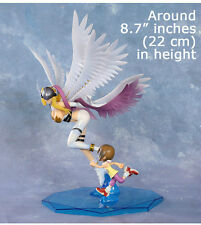 Hot Anime Digimon Adventure Yagami Hikari & Angewomon PVC Figure Statue 3D Model
