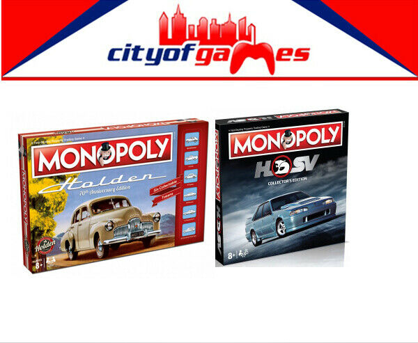 Holden Heritage Monopoly & HSV Collectors Edition Board Game Bundle In Stock