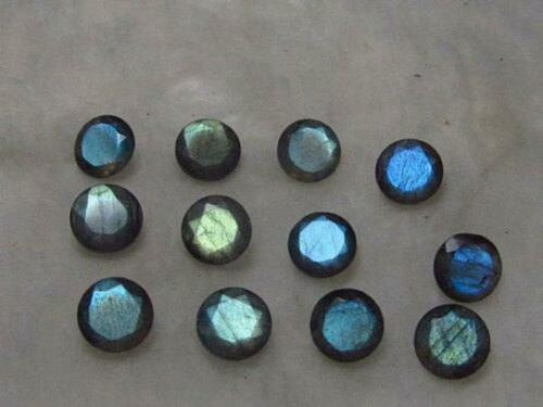 Details about  /Lot Of 12x12mm Round Faceted Cut Natural Blue Fire LABRADORITE Loose Gemstone