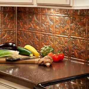 ... Kitchen Backsplash Copper Vinyl Panel Wall Tiles Bathroom