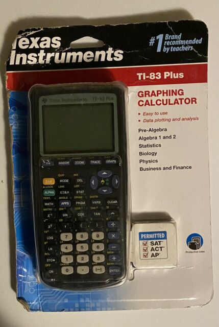 Texas Instruments TI-83 Plus Graphing Calculator-New In Package-Package Has Wear