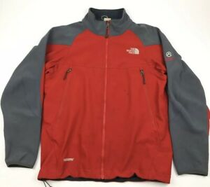 a61d754aa Details about The North Face Men Medium Summit Series Windstopper Soft  shell Jacket Red Gray