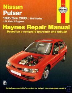 new haynes repair workshop manual nissan pulsar n15 ebay rh ebay com nissan pulsar n16 repair manual pdf 1986 Nissan Pulsar