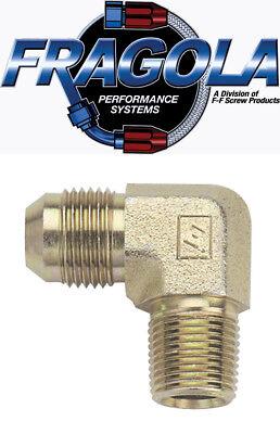 Fragola 582203 3 AN to 1//8 NPT Male 90 Degree Adapter Steel  IMCA USRA NHRA