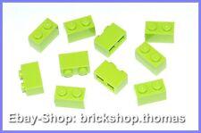 Lego 10 x Basic Steine grün - 3004 - Brick 1 x 2 Lime - NEU / NEW