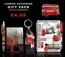 UNION JACK LONDON KEYRING BUS MAGNET NOTEPAD & PEN - BRITISH SOUVENIRS GIFT SET