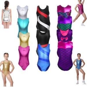 Toddler-Girls-Gymnastics-Leotard-Kids-Ballet-Mermaid-Bodysuit-Metallic-Dancewear