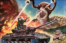 Japan Japanese Monster Movie Art Vintage 1950s-60s Color Postcard #2 gfz