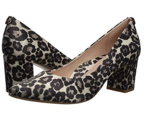 New Womens TARYN pink Madline Printed Leopard Pumps Heels shoes 34TR0327